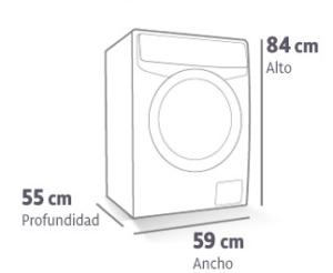 Medidas de lavadora est ndar hnos p rez - Medidas de lavadoras y secadoras ...