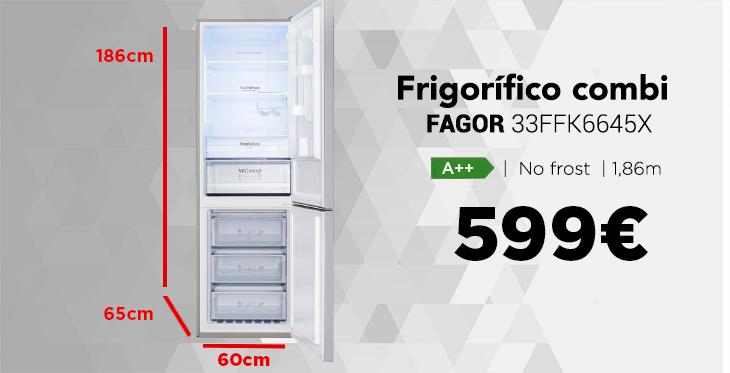 medidas de frigorífico combi fagor 3FFK6645X