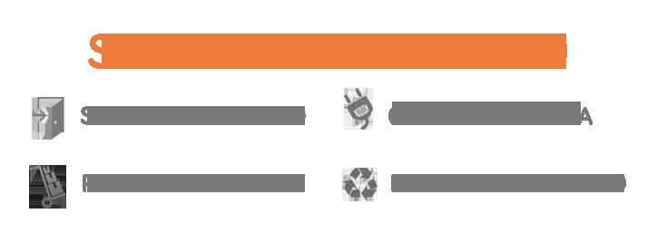 Servicio de transporte, puesta en marcha, recogida y reciclado en Madrid