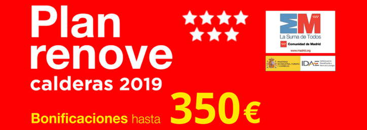 Plan Renove Calderas Madrid 2019
