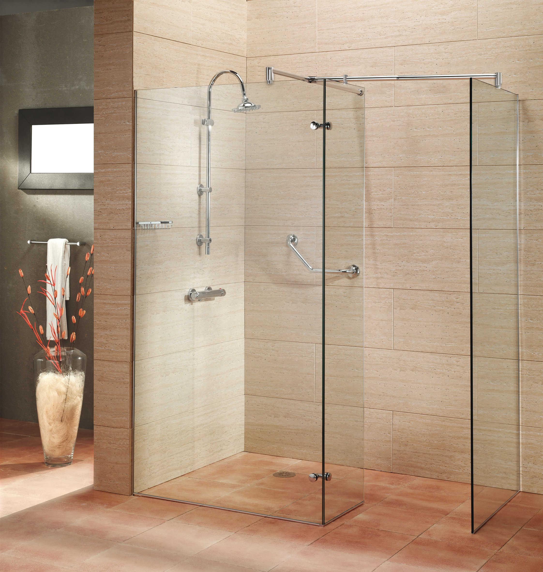 Mamparas laterales fijas muebles de cocina y ba o online for Modelos de duchas