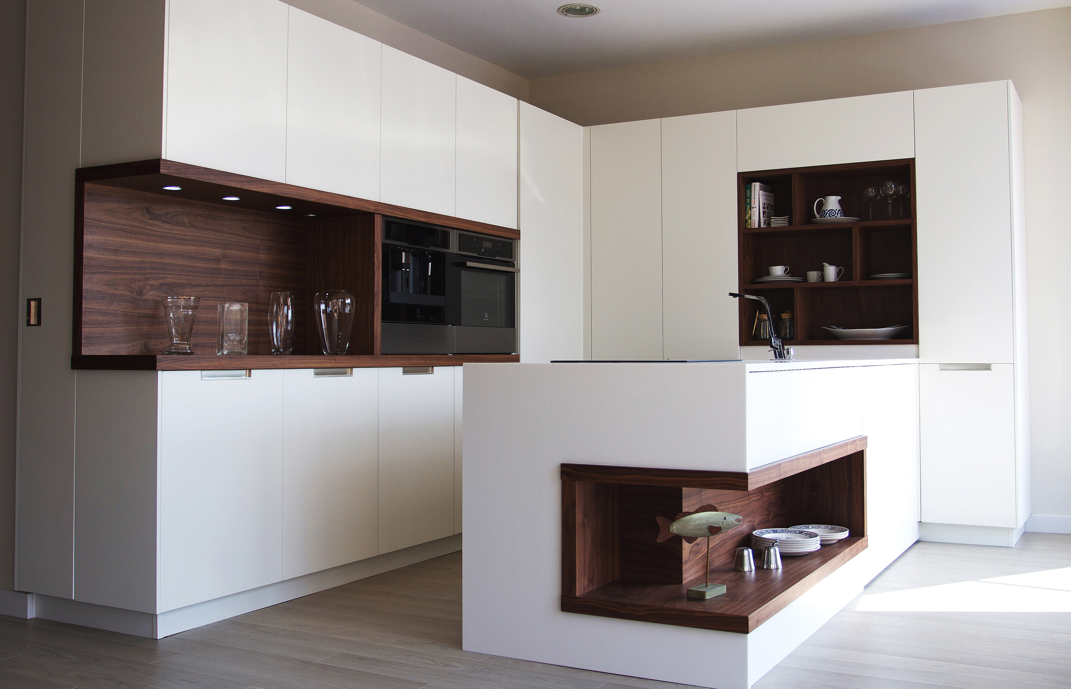 Modelo altea nogal muebles de cocina y ba o online en for Muebles de cocina online