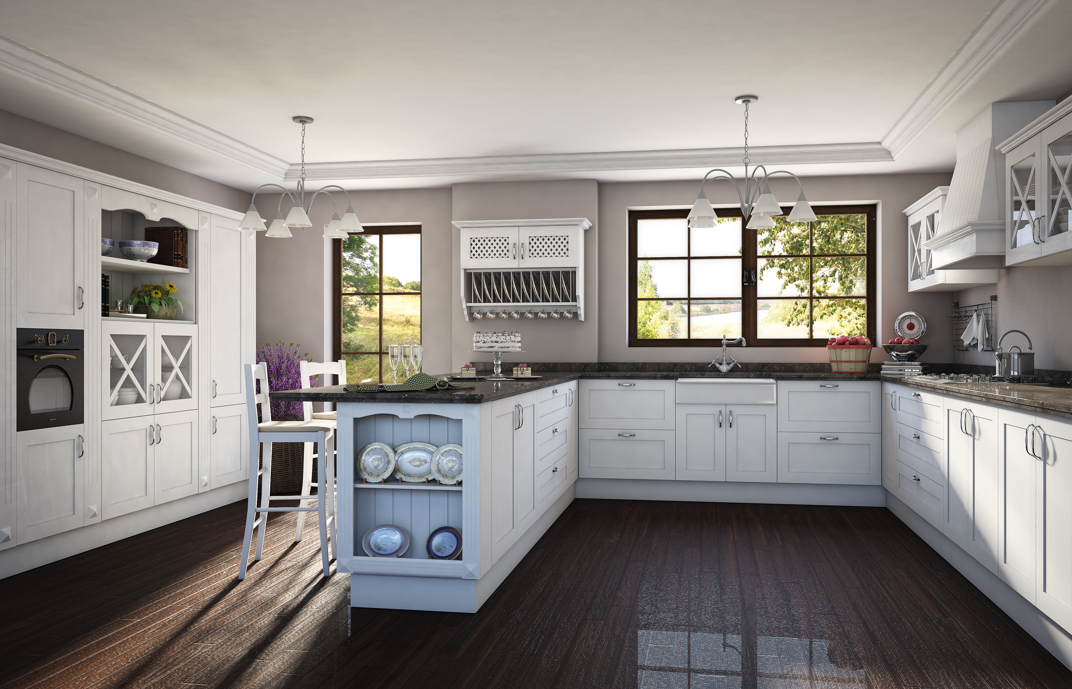 permalink modelo copenhague cocinas románticas cocinas rústica